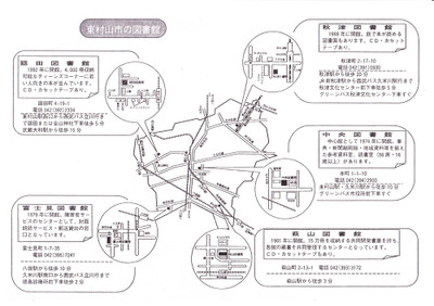 Higashimurayama_library_map_2
