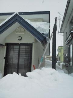 【遊】雪下ろし